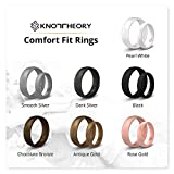 Knot Theory Silicone Wedding Ring for Men - Comfort Fit 6mm Black Band Size 15