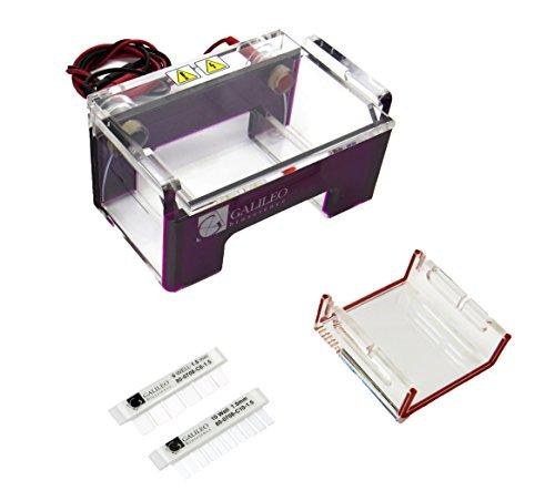 Galileo Bioscience 80-0708 RapidCast Horizontal Mini Gel Electrophoresis System 7cm W x 8cm L Gel Size
