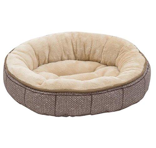 Cat Warmer Mat Four Seasons Universal Body Washable Round Pet Nest (Brown Plaid