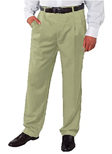 Kirkland Signature Men's Italian Wool Dress Pants (32 x 32, Khaki)