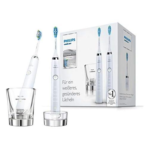 chollos oferta descuentos barato Philips Sonicare DiamondClean HX9327 87 Pack 2 cepillos de dientes eléctricos recargables 5 modos 2 cabezales vaso cargador Color Blanco