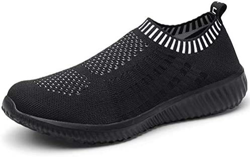 LANCROP Women's Sock Walking Shoes - Comfortable Mesh Slip on Easy Sneakers