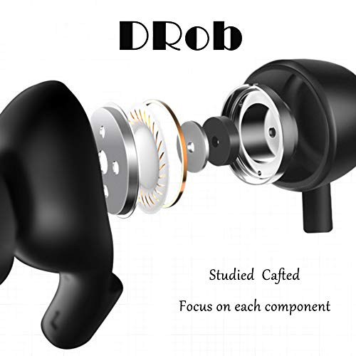 DRob Wireless Bluetooth Headphones Wireless SoundBuds Bluetooth 4.2 High Sports Earphones, Workout Earbuds,Noise Cancellation, Carry Pouch Ergonomic Running Earphones by DRob (Image #2)