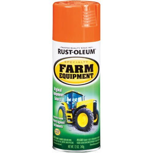 Rust-Oleum 7458830 Specialty Farm Equipment Spray Paint, 12 oz, Allis Chalmers Orange