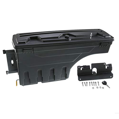 A-Premium Truck Bed Storage Box Toolbox for Chevrolet Silverado 1500 2500 3500 GMC Sierra 1500 2500HD 3500HD 2007-2018 Rear Driver Side