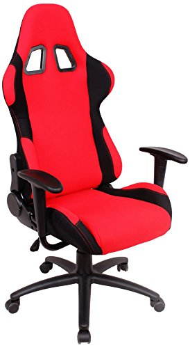 EZ Lounge Racing Car Seat Office Jeep Gaming Chair Red/Black