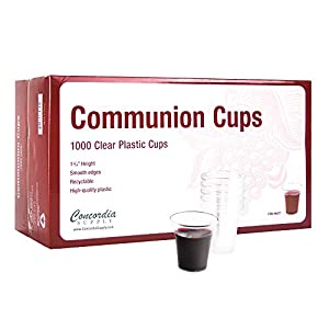 Concordia Supply Communion Cups – Premium Disposable – Box of 1000 – Fits Standard Holy Communion Trays 1-3/8-inch