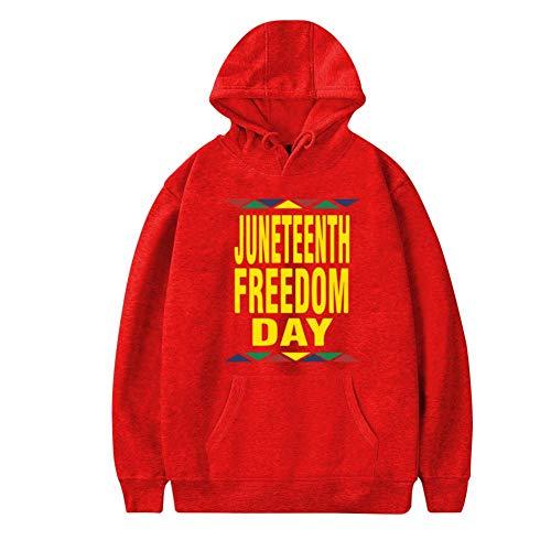 Mens Plus Velvet Hoodie,Cool Juneteenth Freedom Day Dashiki Black History Stylish Printed Classic Pocket Sweatshirt -