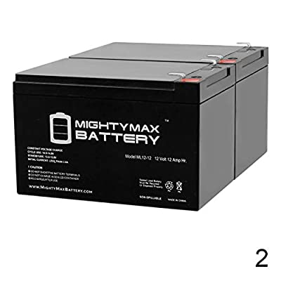 Mighty Max Battery ML12-12 - 12V 12AH F2 Battery Currie i-Zip Electric Chopper EVX12120-2 Pack Brand Product: Electronics
