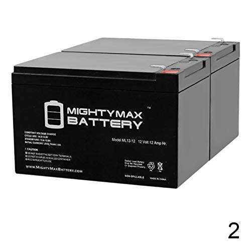 Mighty Max Battery ML12-12 - 12V 12AH F2 SLA AGM DEEP-Cycle Rechargeable Battery...