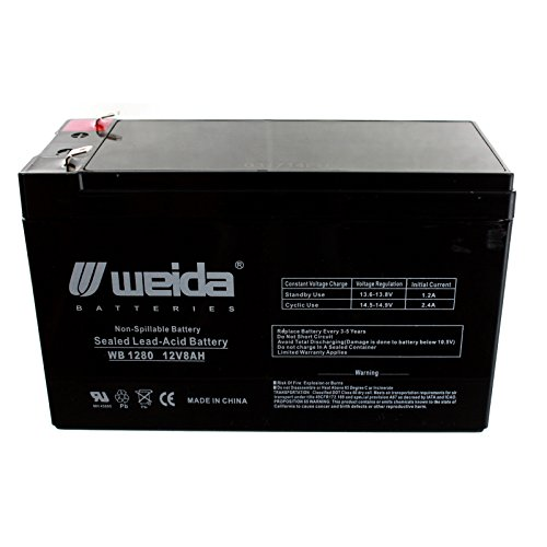 New 12V 8Ah Sla Battery Wb1280f1 Replaces Ub1280  Ps1280  Wka12 8F Fast Usa Ship
