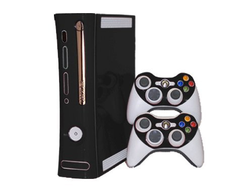 Microsoft Xbox 360 Skin (1st Gen) - NEW - MATTE BLACK system skins faceplate decal mod (1st Skins Console 360 Xbox Gen)