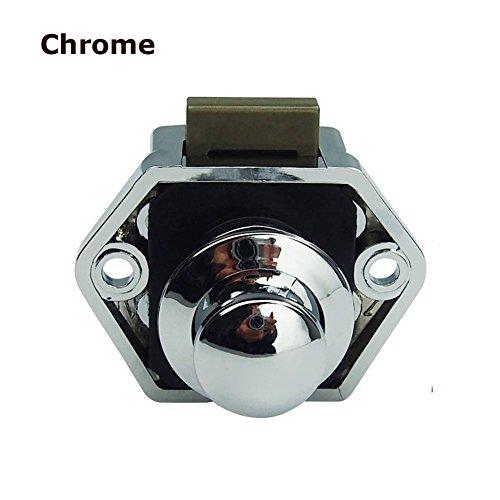Handle Conversion - Encell Set of 5 Push Button Catch Cupboard Door Knob Latch Lock for RV Camper Motor Home Caravan