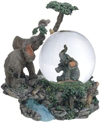 Snow Globe Elephant Collection Desk Figurine Figure Desk Decoration