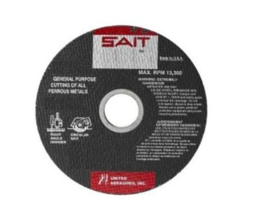 - United Abrasives-SAIT 23105 Type 1 6-Inch x .045-Inch x 5/8-Inch A60S General Purpose Thin High Speed Cut-Off Wheels, 50-Pack