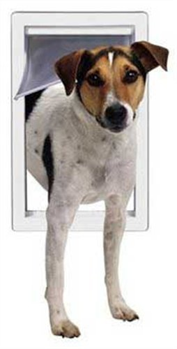 Perfect Pet Pet Door with Telescoping Frame, Small, 5″ x 7″ Flap Size Review