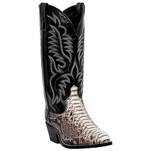 Mens Snakeskin Boots - Laredo Men's Key West Python Cowboy Boot Medium Toe Natural 10.5 EE US