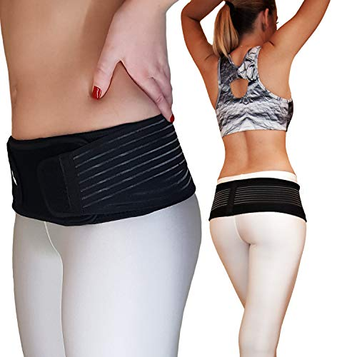 Sacroiliac Belt for Women and Men - Stabilize SI Joint, Anti-Slip Hip Support Brace for Lower Back, Pelvic and Leg Pain Relief - Alleviate Sciatic - Trochanter Belt