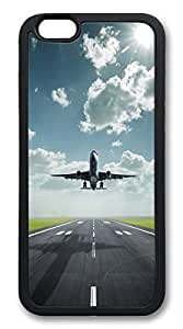 iPhone 6 4.7inch Case and Cover Amazing Lifting Off Airplane TPU Silicone Rubber Case Cover for iPhone 6 4.7inch Black hjbrhga1544