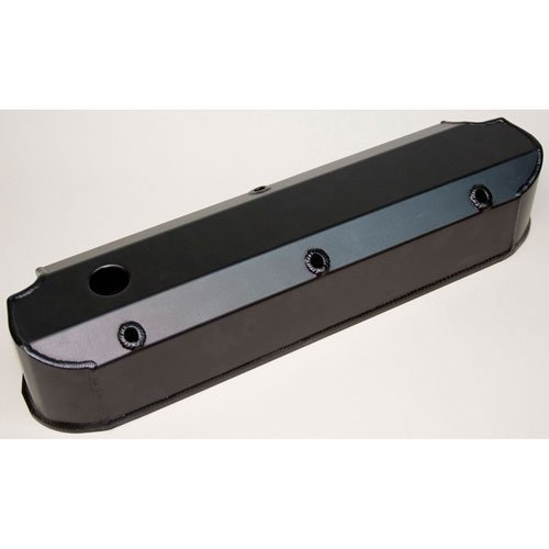 (PRW 4030217 Satin Black Anodized Aluminum Valve Cover for Ford)