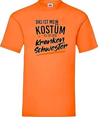 shirtinstyle CAMISETA T-SHIRT verkleidet COMO Enfermera Disfraz de carnaval Revestimiento Muchos Colores kultshirt S-XXL - Naranja, XXL: Amazon.es: Juguetes y juegos