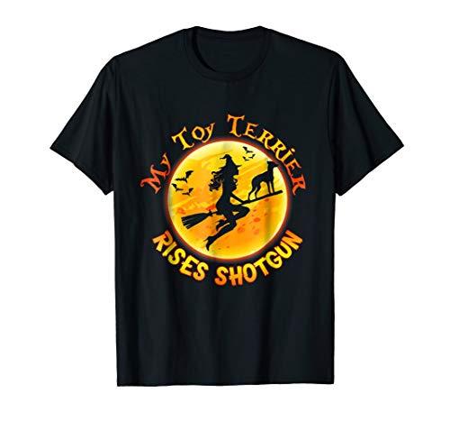 My English Toy Terrier Rides Shotgun Halloween Dog T-Shirt for $<!--$15.99-->