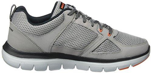 2 Lgor 0 Skechers Flex Advantage Gris Hombre Zapatillas Grau qnRxvE687x