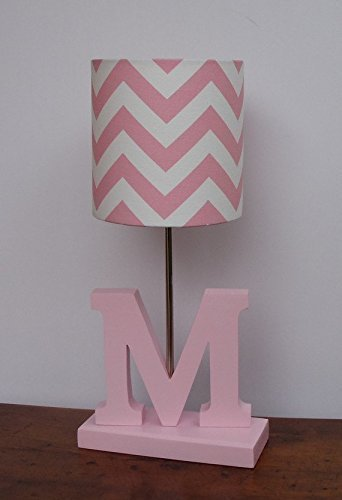 Baby Pink/White Chevron Lamp Shade by Aluve