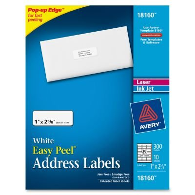 Avery Easy Peel Address Labels SO12 Avery Dennison Peel