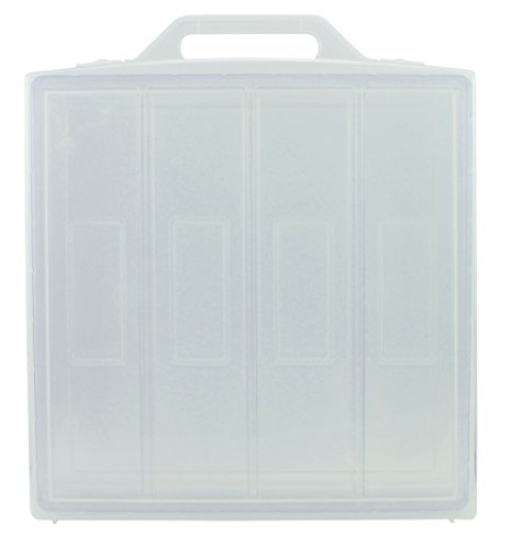 Clear Plastic Carrying Case Storage for Barbie, Bratz Dolls, Marvel & DC Action Figures, Dolls up to 12