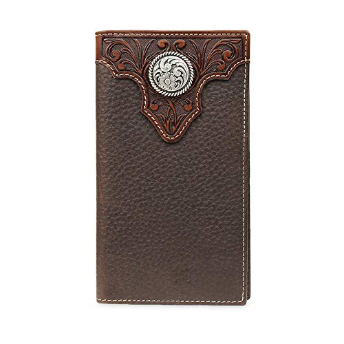 Ariat Men's Tooled Overlay Rodeo Wallet Brown Size One Size
