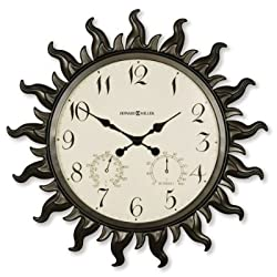 Howard Miller Sunburst Outdoor Wall Clock Grandin Road