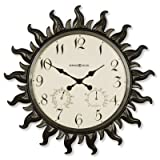 Sunburst Outdoor Wall Clock by Howard Miller - Grandin Road