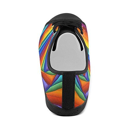 Scarpe Da Ginnastica A Spirale Arcobaleno Psichedelico Artsadd (modello015)