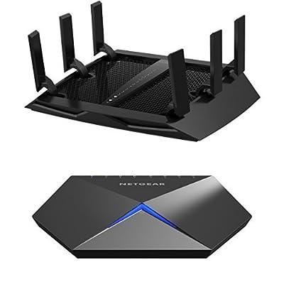 NETGEAR Nighthawk X6 AC3200 Tri-Band Gigabit WiFi Router (R8000) Bundle with Nighthawk S8000 Gaming & Streaming Advanced 8-Port Gigabit Ethernet Switch (GS808E)