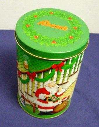 (Reeses Christmas Tin Santa Holiday Classics Series Canister 6 USA 1993)