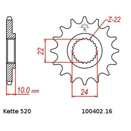 Kettensatz geeignet f/ür BMW G 650 GS 11-14 Kette RK GB 520 ZXW 112 GOLD offen 16//47