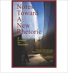 Book [(Notes Toward A New Rhetoric: 9 Essays for Teachers)] [Author: Francis Christensen] published on (November, 2007)
