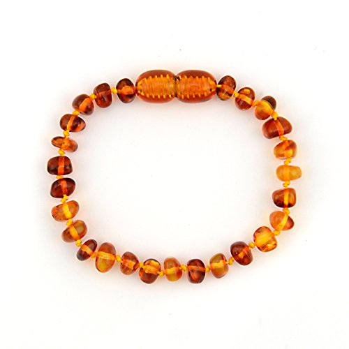 ALVABABY Amber Teething Bracelet or Anklet for Babies (Unisex) - Anti Flammatory Drooling & Fussiness Reduce Amber Teething Bracelet or Anklet ATB03
