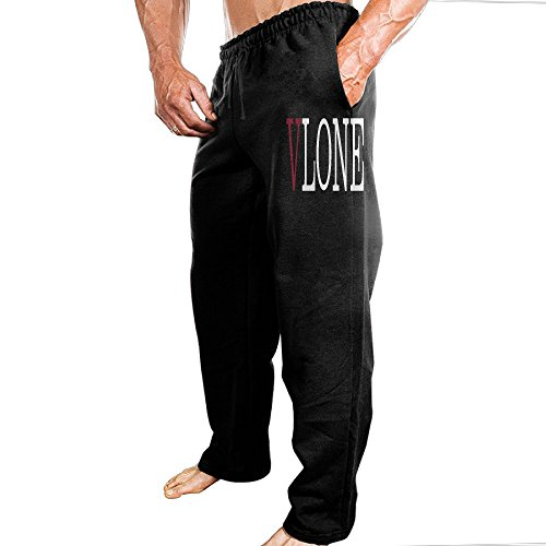 Dena-J Men's ASAP Vlone A$AP Mob ASAP Rocky Lord Rowing Casual Style Sweatpants Leisure Style XL Black