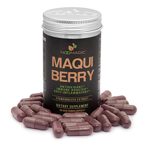 Maqui Berry, 60 Capsules | 500mg Each, Antioxidant (High ORAC), Anti-Aging, Immune Booster, Helps with Dry Eyes, 10% Anthocyanins, Standardized Extract