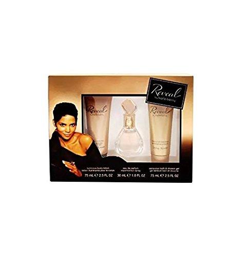 Halle Berry 3 Piece Gift Set, Reveal 1 Oz Eau de Parfum Spray, 2.5 Oz Body Lotion, 2.5 Oz Shower Gel + FREE Schick Slim Twin ST for Dry Skin -  coty