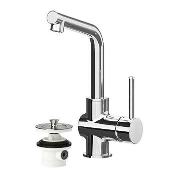 Armaturen küche ikea  IKEA LUNDSKAR – Waschbecken Armatur mit Sieb, verchromt: Amazon.de ...