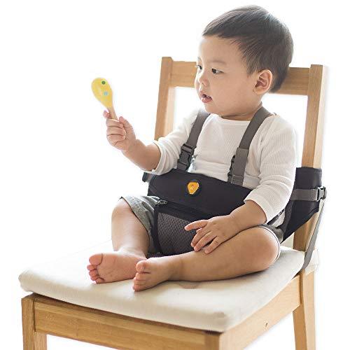 HUGPAPA Dial-Fit 2 Way Baby Chair Booster (Charcoal) by HUGPAPA