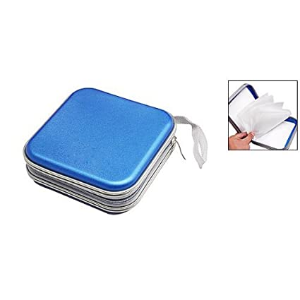 b603d981564b7 Amazon.in  Buy Blue   SODIAL(R) CD VCD DVD Organizer Square Case Storage  Holder Blue Online at Low Prices in India