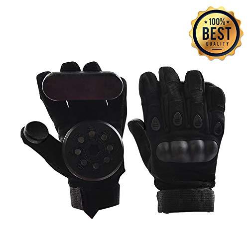 LOSENKA Professional Skateboard Gloves with Sliders,Standard Longboard Downhill Slide Gloves Skate Gloves with 2 Set Slider Puck Set