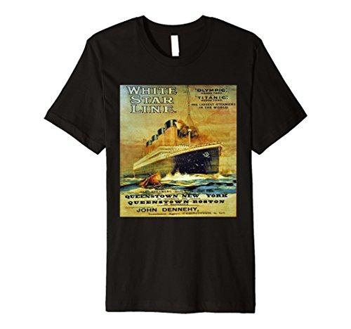 Titanic White Star Line Vintage Poster Premium T-Shirt Tee