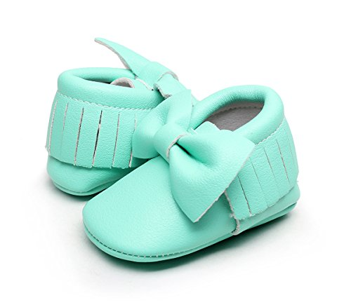 AngelaKerry - Zapatos primeros pasos de Otra Piel para niño Fruta Verde