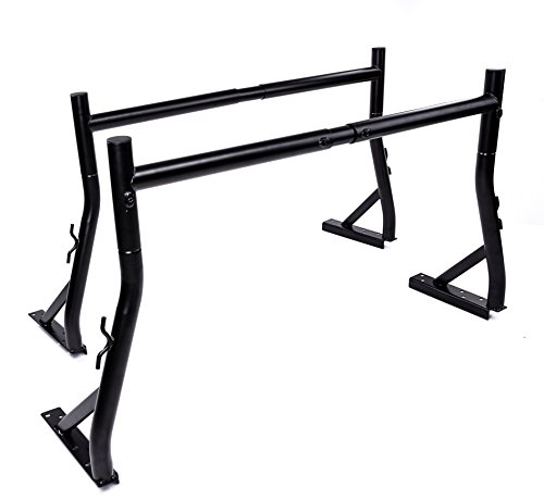 AA-Racks Model X35 800LB Capacity Extendable Steel Pick-Up Truck Ladder Rack Two-bar set