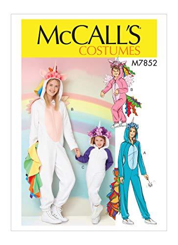McCall's M7852 Miss/Children's/Girls' Unicorn Onesie Costume, Size Miss (S-XL)